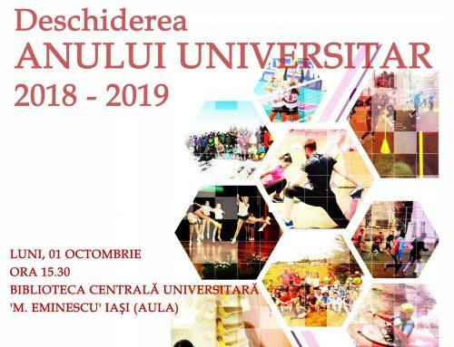 Deschiderea anului Universitar la Facultatea de Educație Fizică și Sport