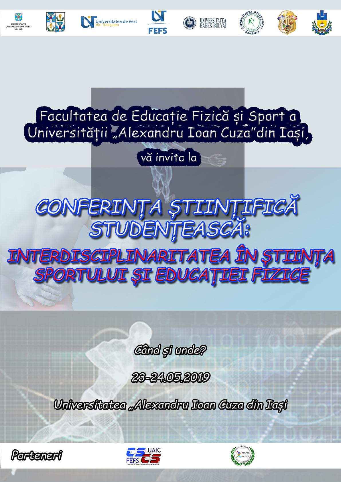 Conferința Științifică Studențescă – Interdisciplinaritatea în știința Sportului și Educației Fizice